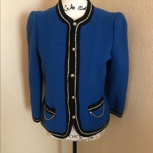 Vintage Adolfo New York In Blue Size 6